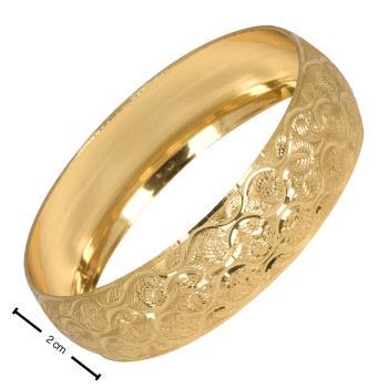 2 cm Altın Kaplama Bilezik