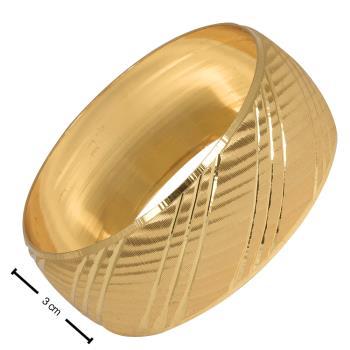 3 cm Cns Altın Kaplama Bilezik