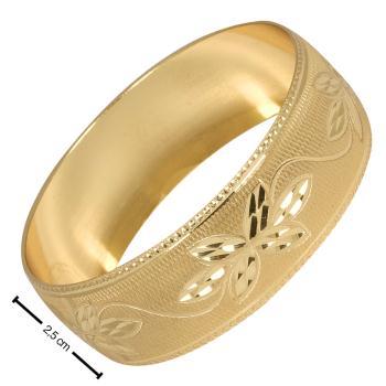 2,5 cm Cns Altın Kaplama Bilezik