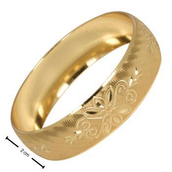 2 cm Cns Altın Kaplama Bilezik