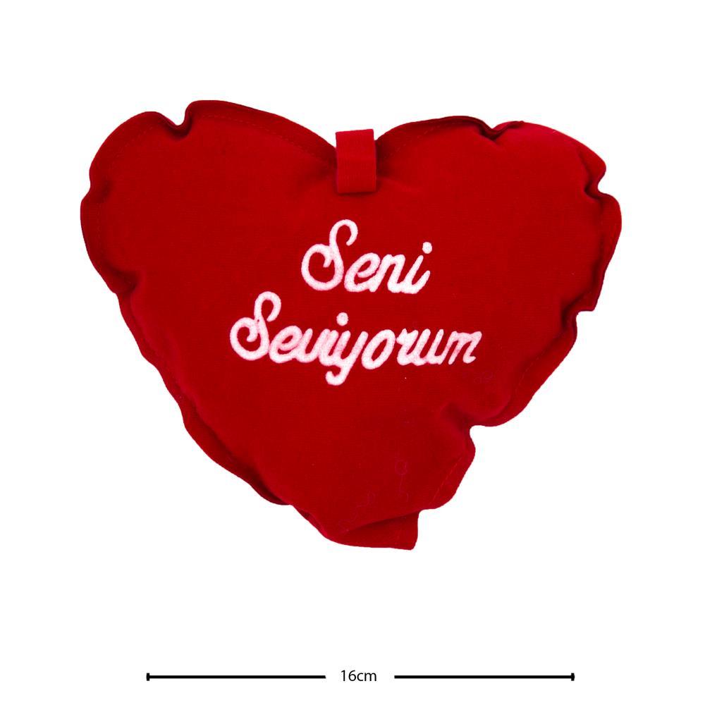Senİ Seviyorum Kalpli Yastık (16 CM No:2 )