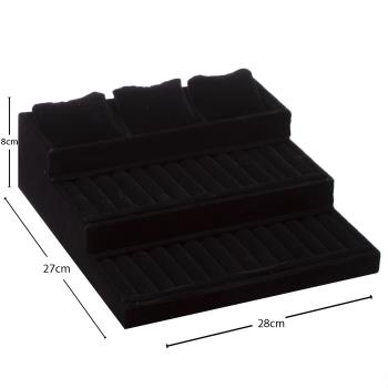 3 Basamaklı Anfora Kumaş Yastıklı Dik Sosisli Stand