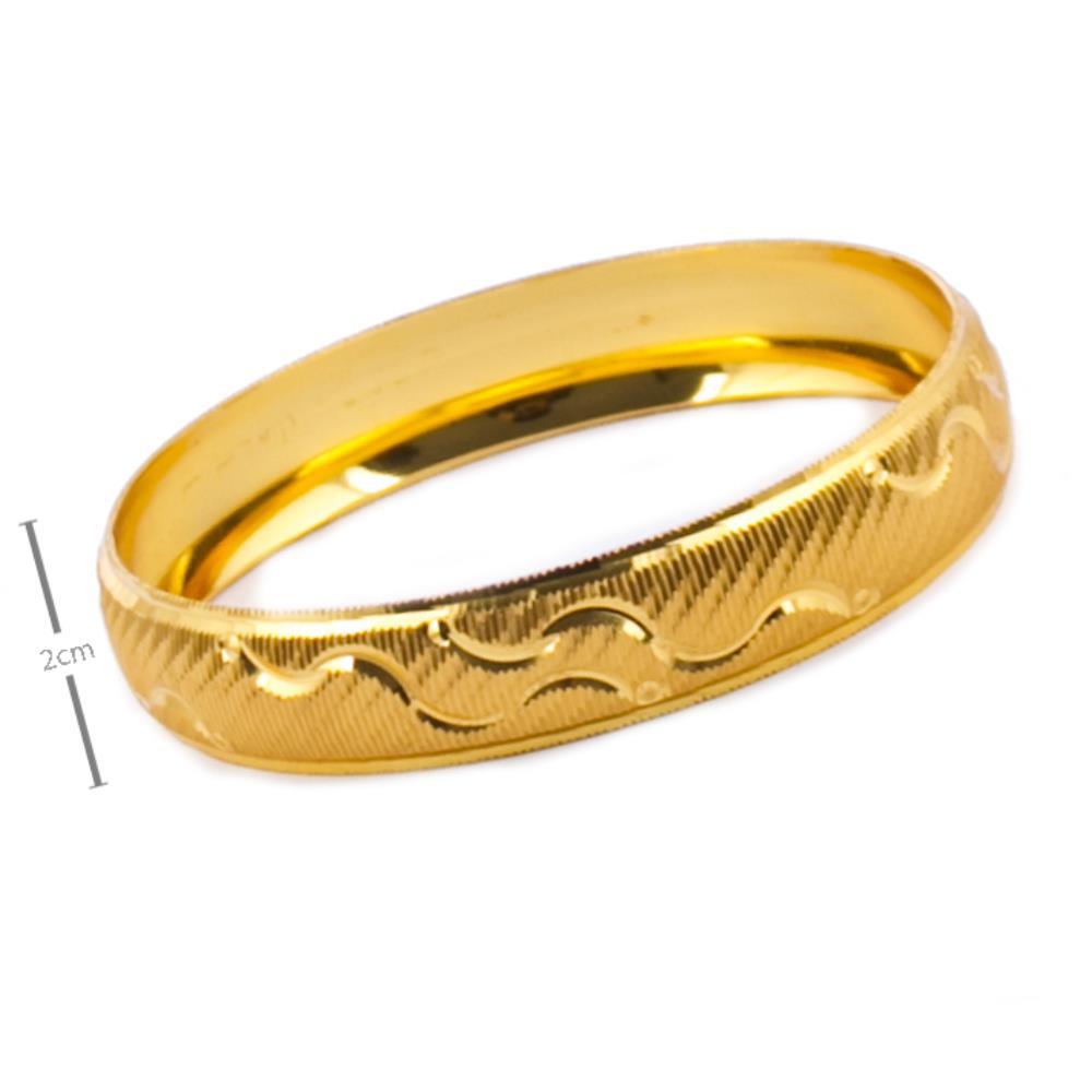 1,5 cm Altın Kaplama Bilezik