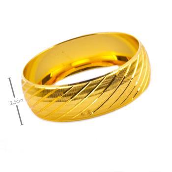 2,5 cm Altın Kaplama Bilezik