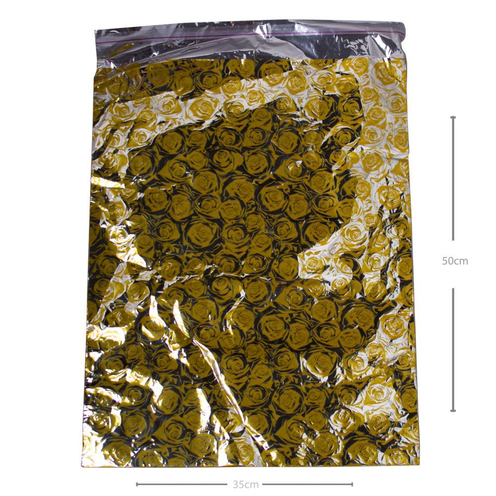 35*50 Metalize Hediye Poşet Paketi 100'lü
