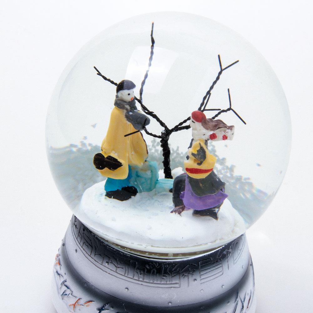 Kış Masalı Kurmalı Müzikli Kar Küresi (Büyük Boy)
