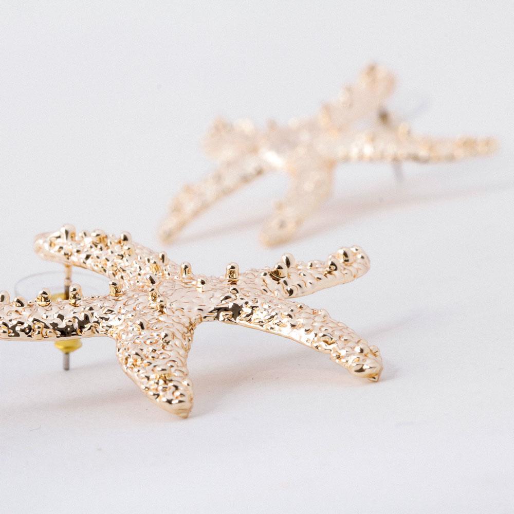 Deniz Yıldızı Figürlü Metal Küpe