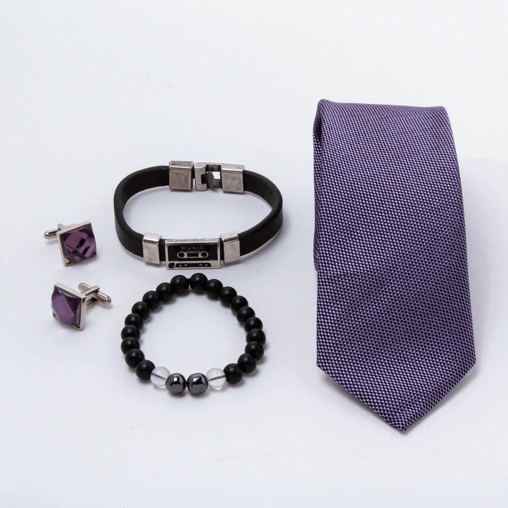 Erkek Kravat Kol Düğmesi Özel Tasarım Hediye Set
