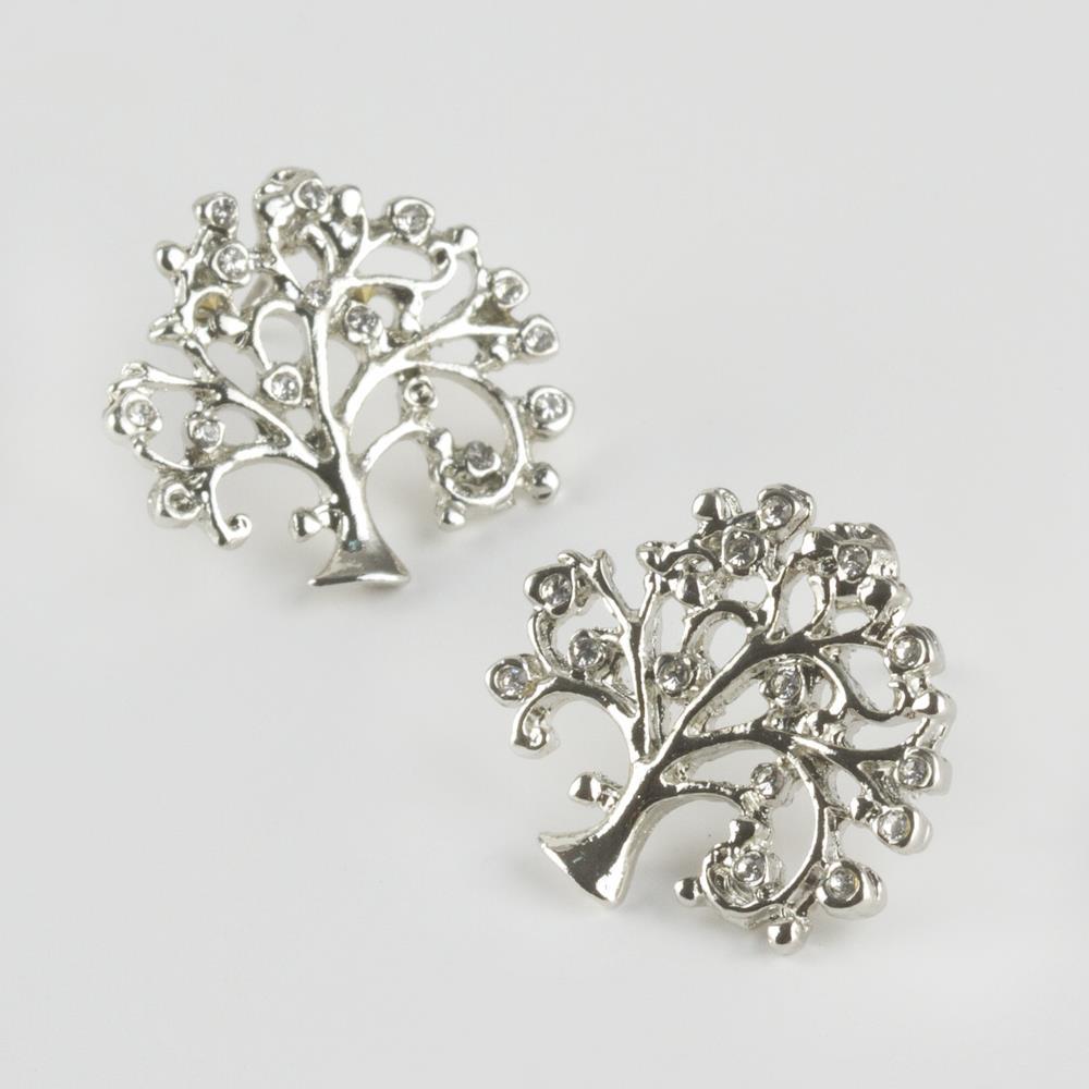 Hayat Ağacı Taşlı Küpe