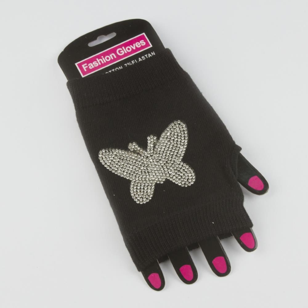 Kelebek Figürlü Yarım Eldiven