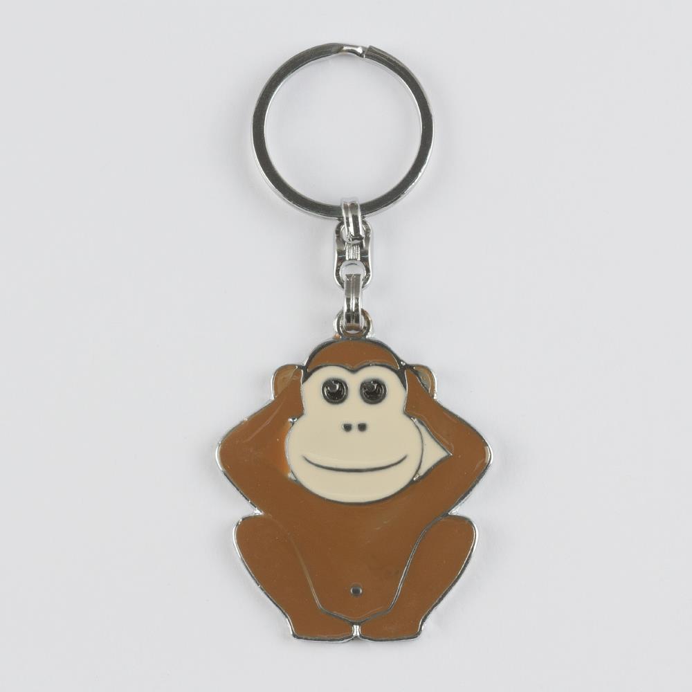 Maymun Figürlü Metal Anahtarlık