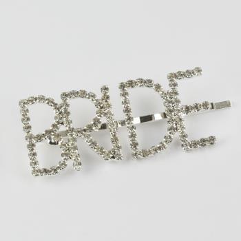Bride Yazılı Taşlı Pens Toka