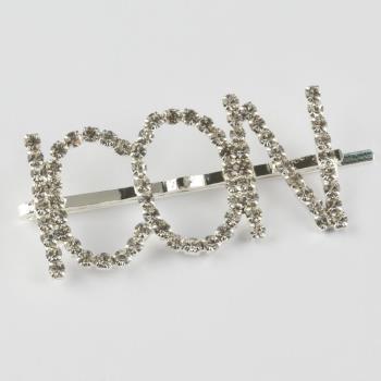 Icon Yazılı Taşlı Pens Toka