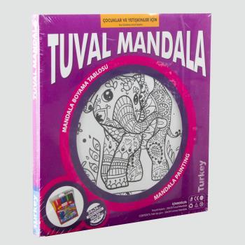 Fil Figürlü Kumtoys Tuval Mandala