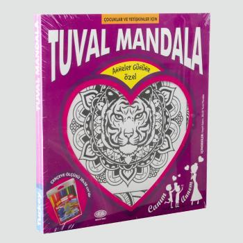 Aslan Figürlü Kumtoys Tuval Mandala