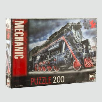 Makine / Lokomotif Puzzle 200 Parça KS Games