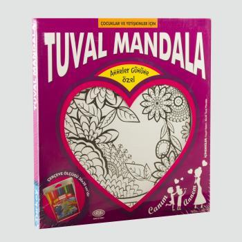 Çiçek Figürlü Kumtoys Tuval Mandala