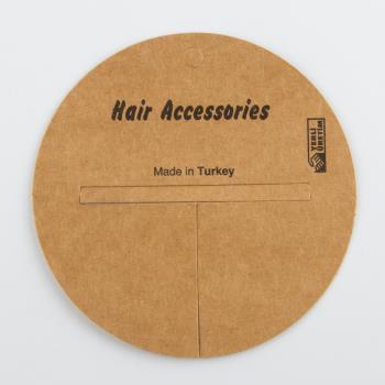 Yuvarlak Saç Aksesuar Kartı