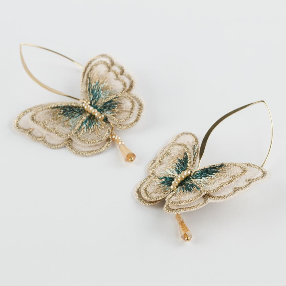 Kelebek Figür İşlemeli Zara Küpe