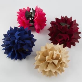 Çiçek Figürlü Tüllü Mandal Toka