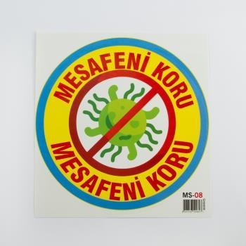 Mesafeni Koru Yazılı Sticker