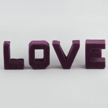 4''lü Love Yazılı Anfora Yüzük Standı
