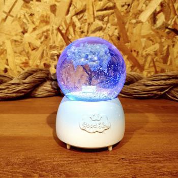 Mutluluk Ağacı Pilli Müzikli Işıklı Kar Küresi (Büyük Boy)