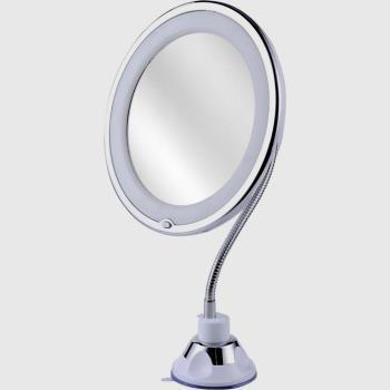 Flexıble 10x Zoomlu Esnek Işıklı Çerçeveli Makyaj Aynası