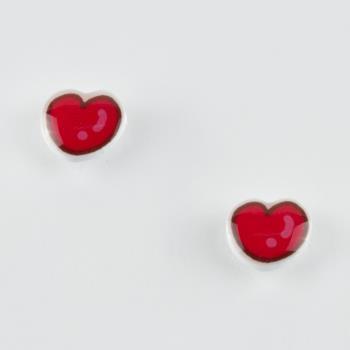 Kalp Figürlü Mıknatıslı Kız Çocuk Küpesi