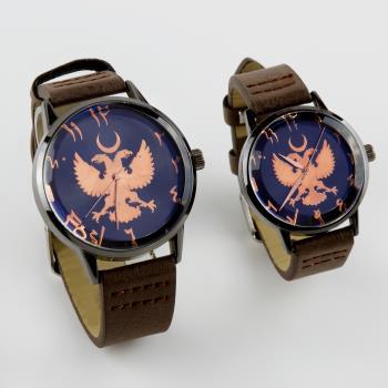 Çift Başlı Kartal Kayışlı Çift Kol Saati ( Sevgili Saati)