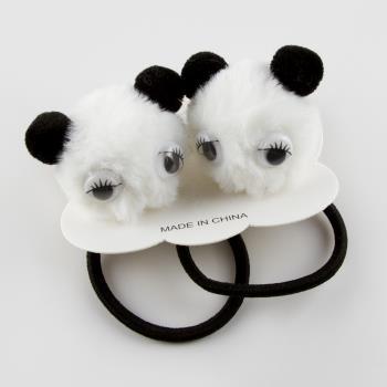 Panda Figürlü Lastikli Toka 2 Adet