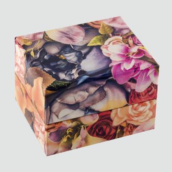 Çiçek Figürlü Saat Kutusu