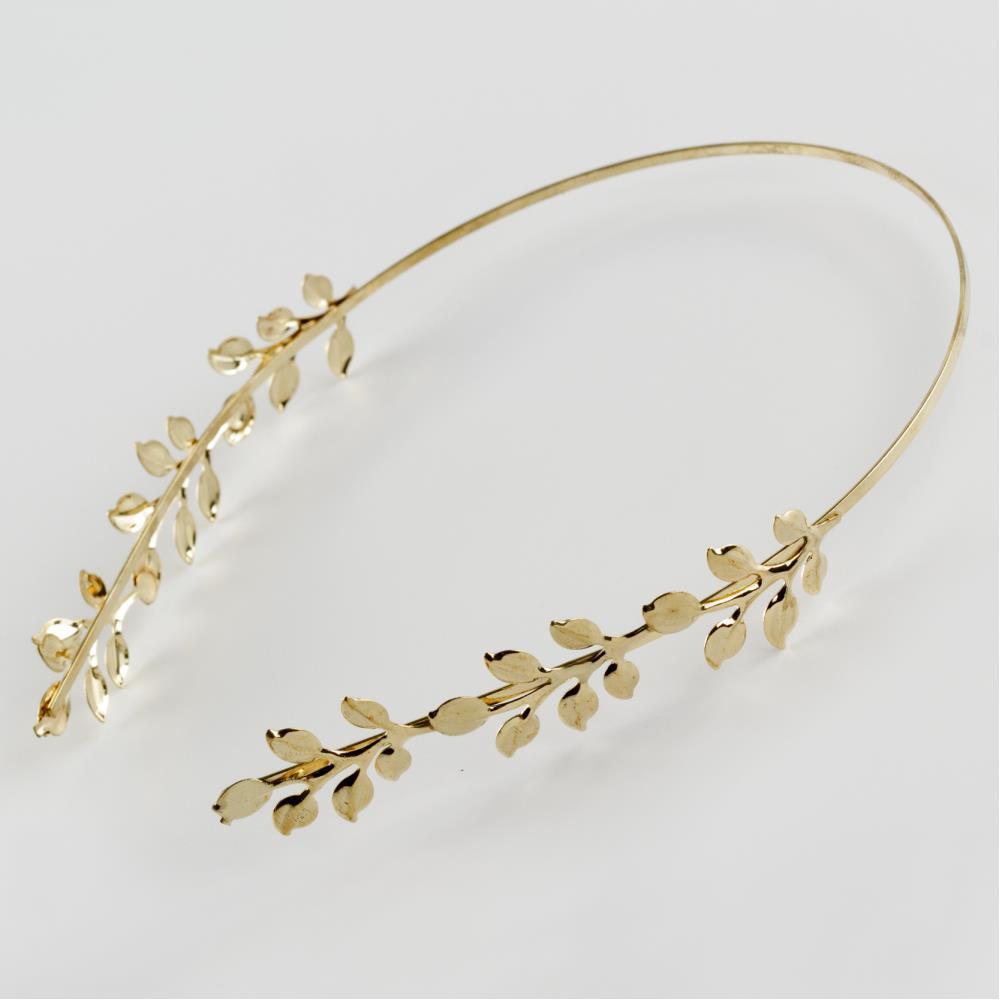 Yaprak Figürlü Metal Taç