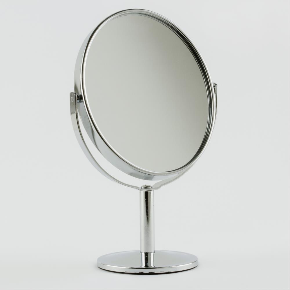 Oval Çift Taraflı Masa Aynası 17 cm
