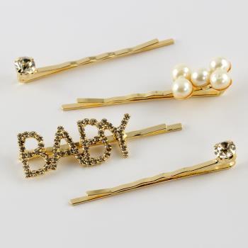 4 Adet Baby Yazılı Pens Toka