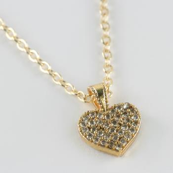 Kalp Figürlü Zirkon Taşlı Kolye