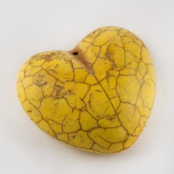 3,5 cm Kalp Figürü Turkuaz Kolye Ucu