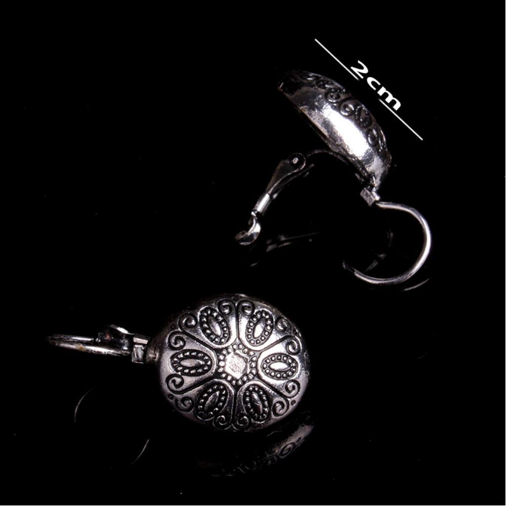 Eskitme  Taşsız  Gümüş Küpe
