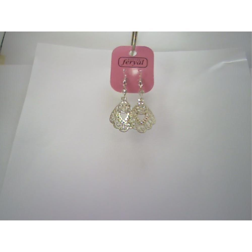 Metal  Taşlı  Kısa  Gümüş Küpe