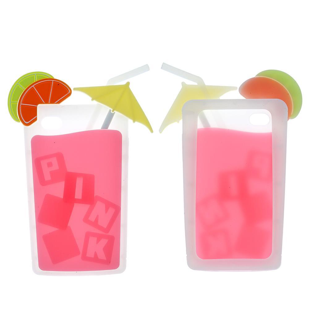 iPhone 4 / 4s Pink Kokteyl Silikon Kılıf