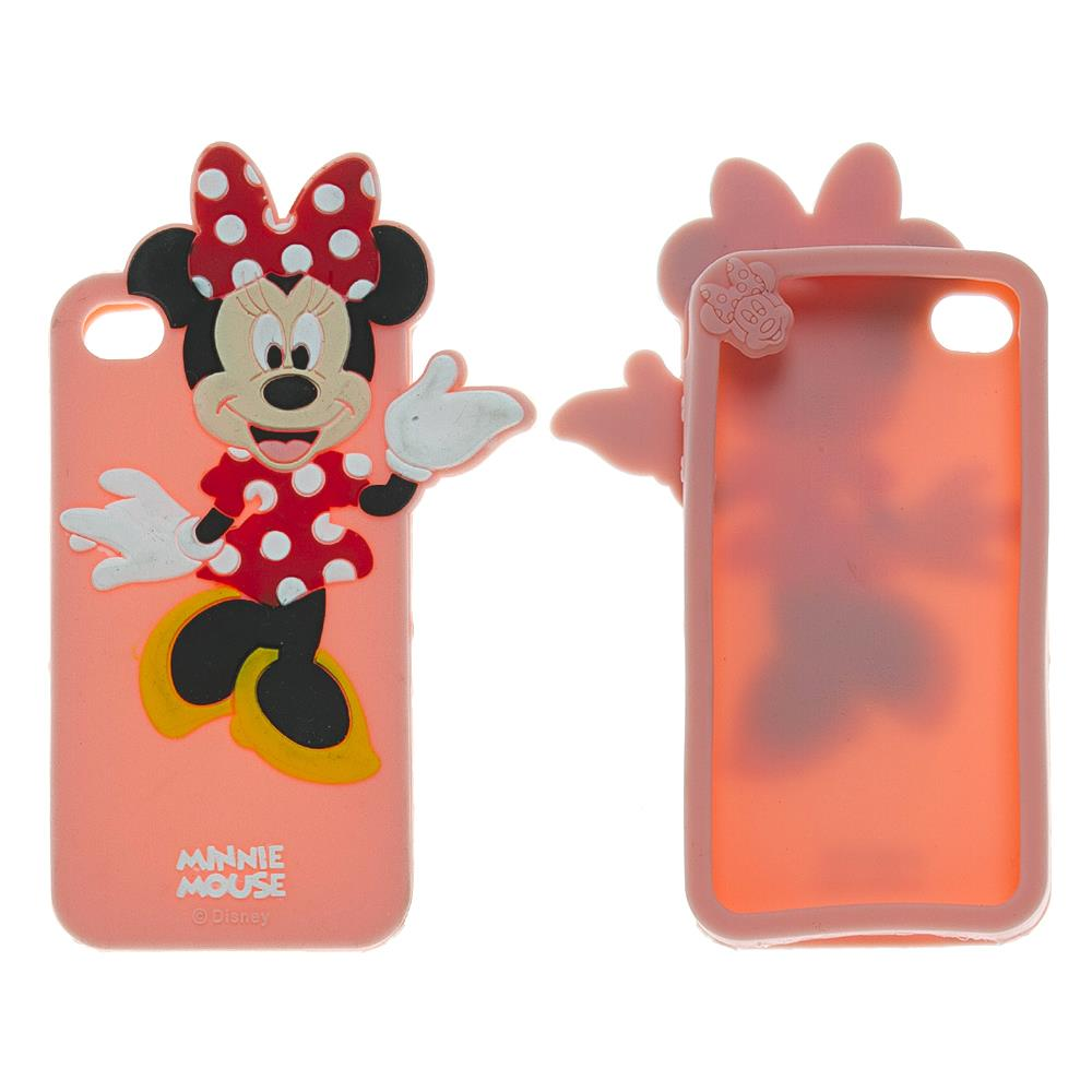 iPhone 4 / 4s Pink Minnie Mouse Silikon Kılıf