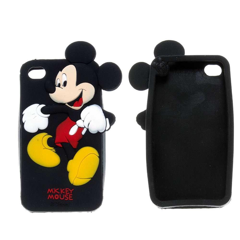iPhone 4 / 4s Pink Mickey Mouse Silikon Kılıf
