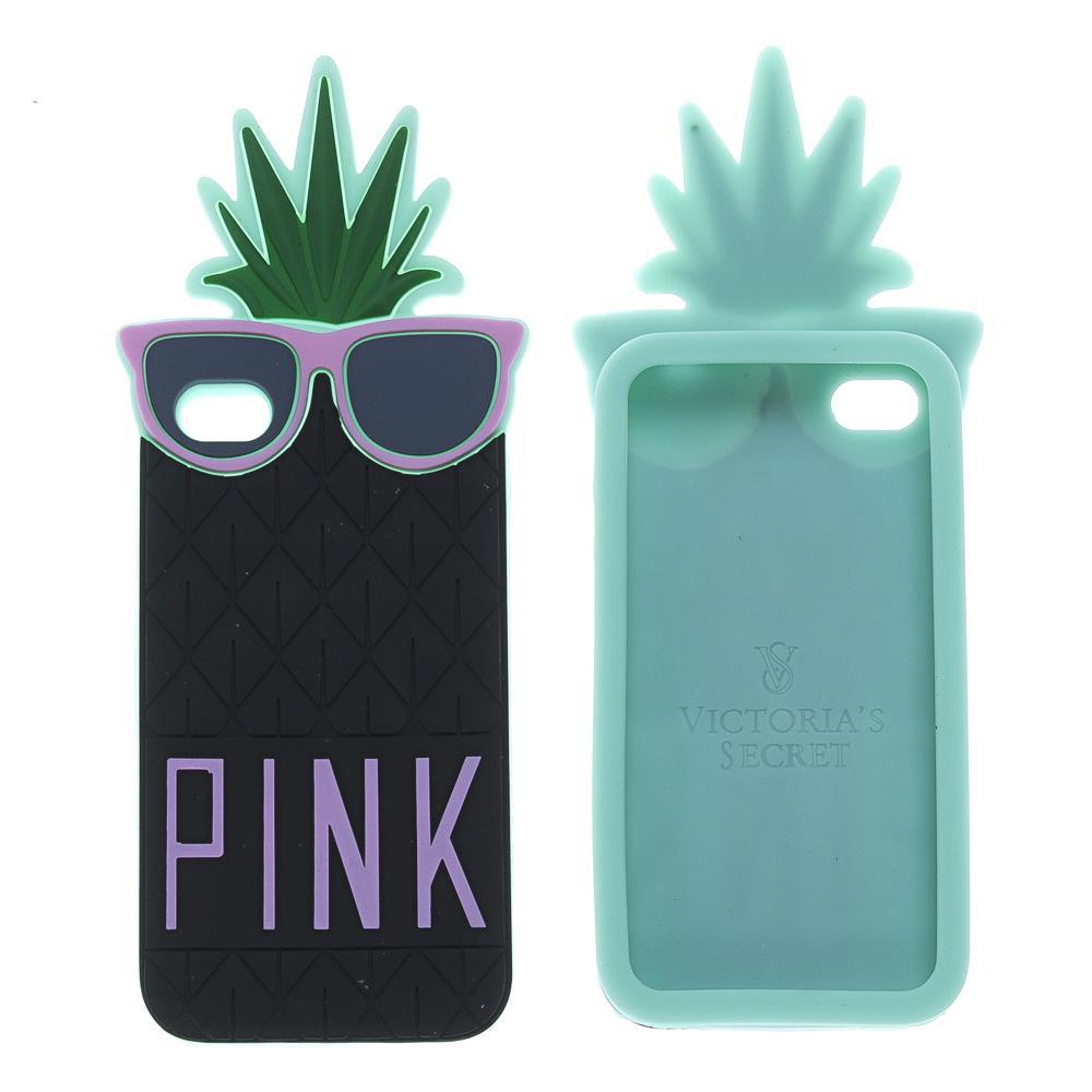iPhone 4 / 4s Pink Ananas Silikon Kılıf